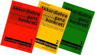 Titelbild Akkordlehre Band 1, Band 2, Band 3 von Peter M. Haas