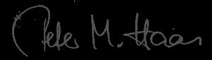 Unterschrift Peter M. Haas
