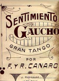 Titel des Notenblattes Sentiment Gaucho