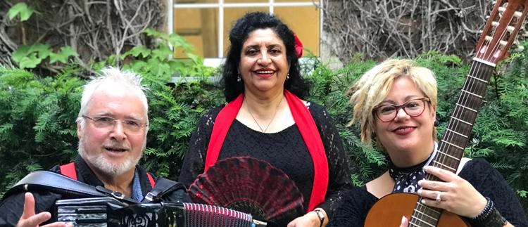 Drei Musiker im Porträt - Renée Figueroa, Quena Tapia, Peter M. Haas