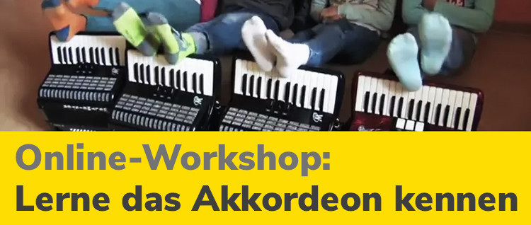 Online-Workshop lerne das Akkordeon kennen
